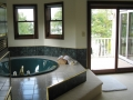 Master bath with private balcony